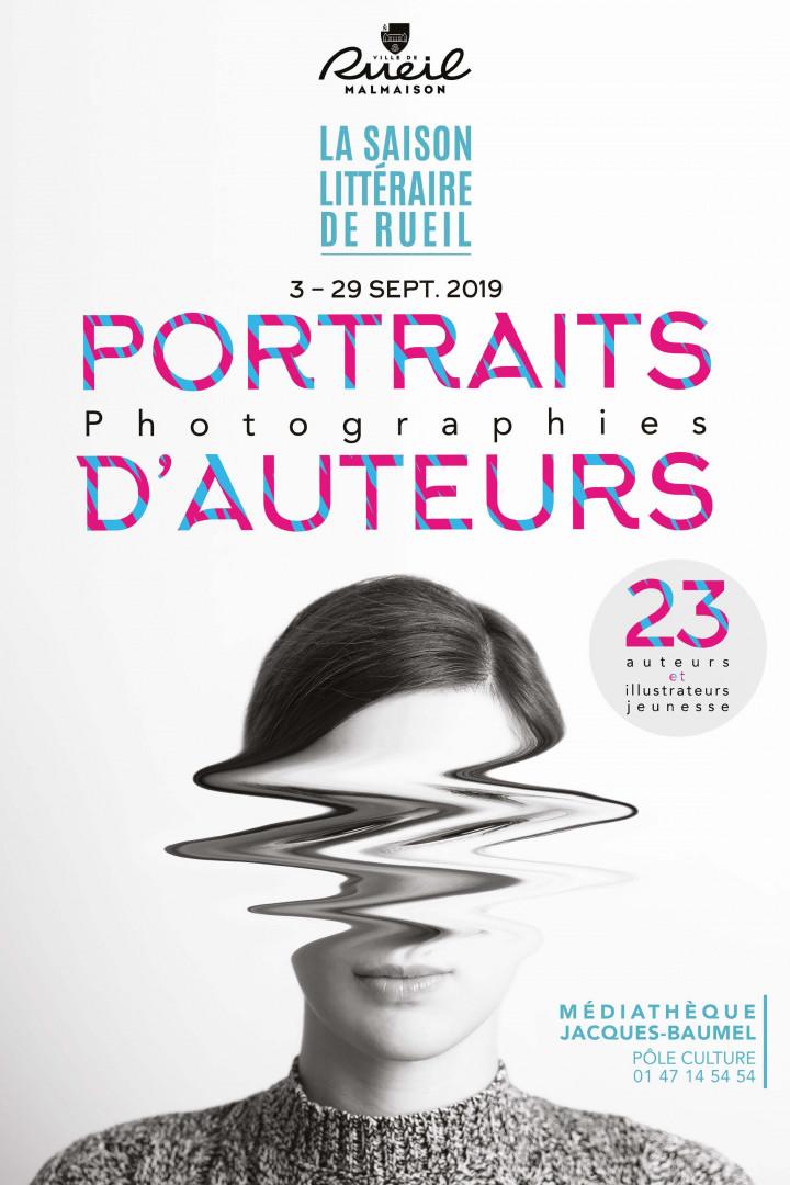 affiche de l'exposition Portraits d'auteurs
