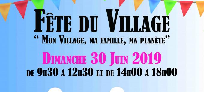 Affiche Fête du village Plaine Gare